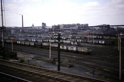 Goods yard en route to York station, Yorkshire, 1964-1965.