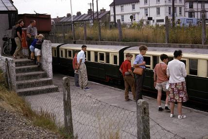 Miniature train, New Romney Station, Kent, 1966.