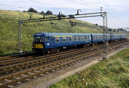 British Rail (London, Midland Region) electric train, 1966.