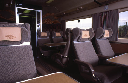 Interior view of a Pullman carriage, c 1980s.
