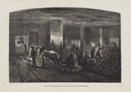 'Working Coal in the thick coal of South Staffordshire', 1869.