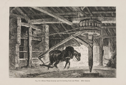 'Horse Whim formerly used for drawing Coals and Water', 1869.