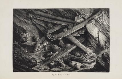 'Falling in of a Mine', 1869.