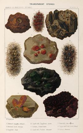 Transparent stones, 1869.