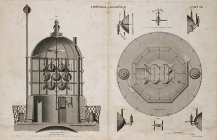 Bell Rock Lighthouse lamps, c 1810.