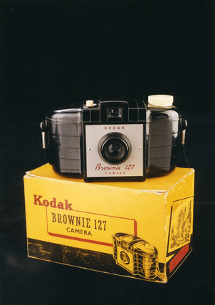Kodak 'Brownie 127' camera, c 1950s.
