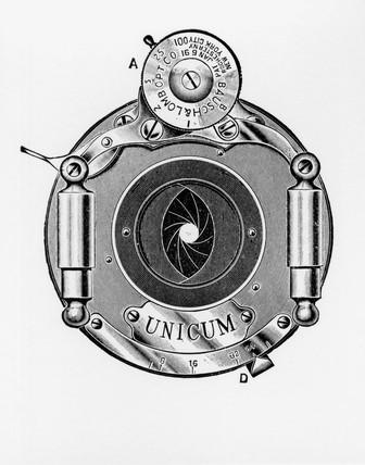 Bausch & Lamb 'Unicum' diaphragm shutter, 1906.