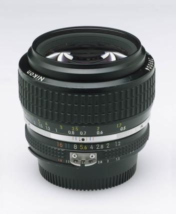 Nikkor 50mm f1.2 bayonet fitting manual focus lens, c 1980.