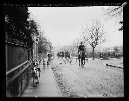 'The East Essex Hunt. Trinity Street, Halstead', 1901