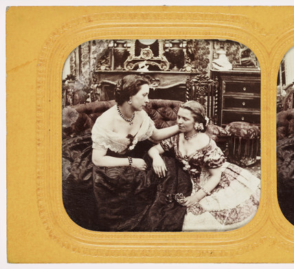 Two women, c 1875.
