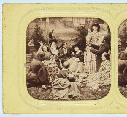 A picnic, c 1860.
