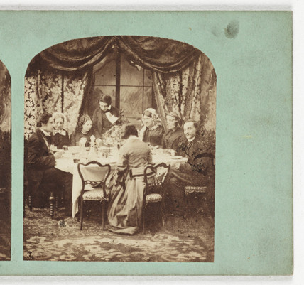 Dinner, c 1870.
