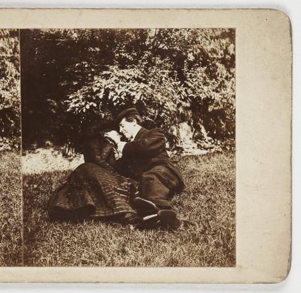 Lovers, c 1895.