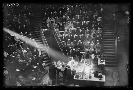 Christmas lecture for children at the Royal Institution, 27 December 1932.