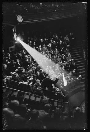 Christmas lecture for children at the Royal Institution, London, 1933.