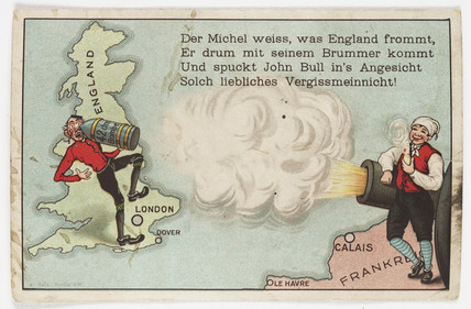 German propaganda postcard, c 1916.