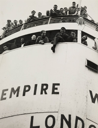 The 'Empire Windrush' arriving from Jamaica, 1948.