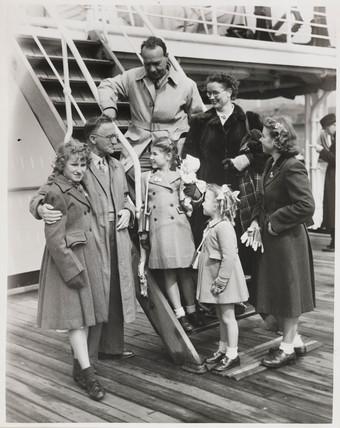 Returning from Australia, 1951.