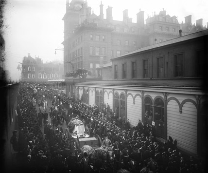 Queen Victoria's funeral procesion, London, 2 February 1901.