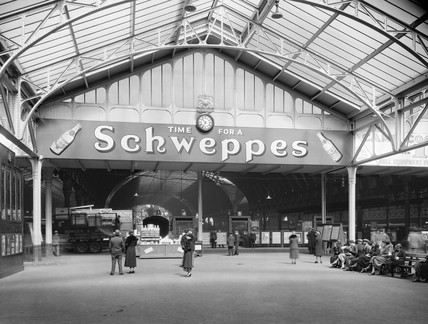Advertisement at Paddington Station, London, 1934.