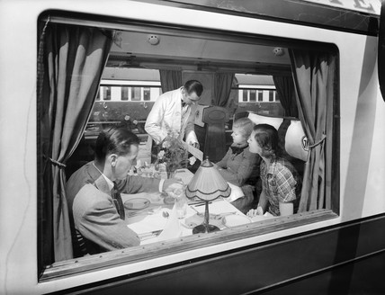 First class dining car, 1938.