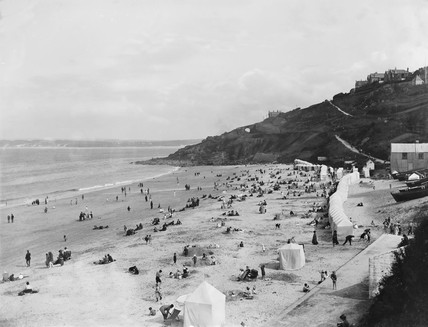 Porthminster Beach, St Ives, Cornwall, c 1920.