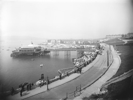 Plymouth Pier, Devon, c 1921.