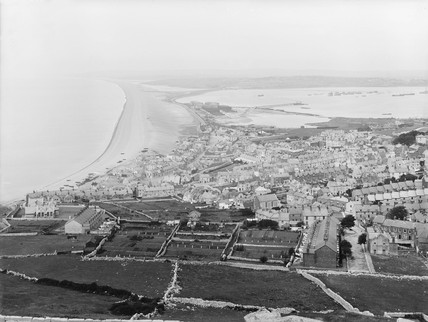 Chesil Beach, seen from Priory Corner, Portland, Dorset, 1921.