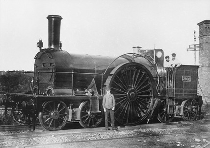 Locomotive on the Bristol and Exeter Railway, 1910