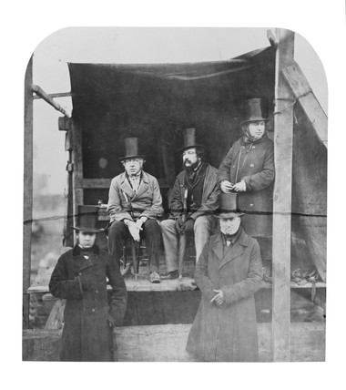 Isambard Kingdom Brunel at the launch of the s 'Great Eastern', London, 1857.