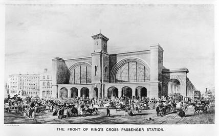 King's Cross Station, London, c 1853.