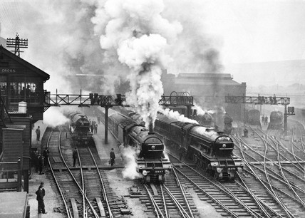 Flying Scotsman at King's Cross station, c 1930.