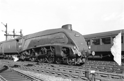 A4 class 'The Mallard' locomotive, c 1955.