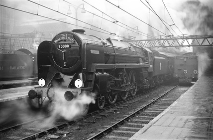 The 'Norfolkman' locomotive, 2 February 1951.