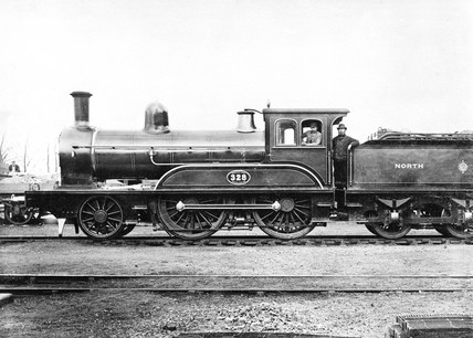North Eastern Railway locomotive, c 1890