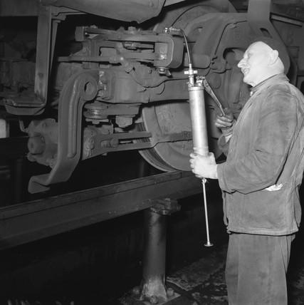 Finsbury Park diesel depot, March 1965.