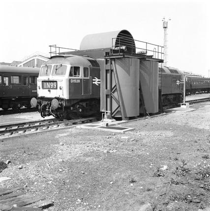 Stratford locomotive depot, 1968