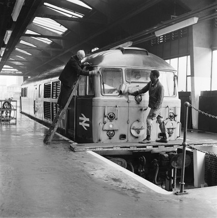 Diesel locomotive shed, 1969
