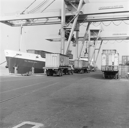 Containers at Parkeston Quay, 1971.