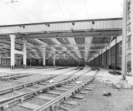Ilford carriage shed, London, 29 July 1959.