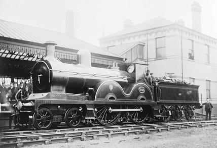 Locomotive number 1093, c 1880.