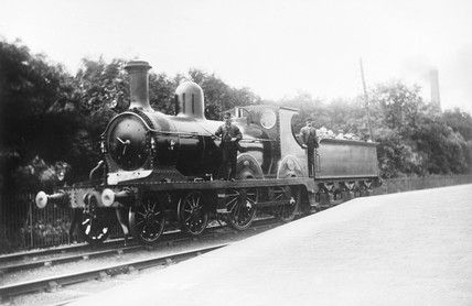 Locomotive number 886, c 1880.