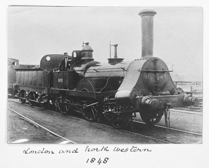 London & North Western Railway steam locomotive, 1848.