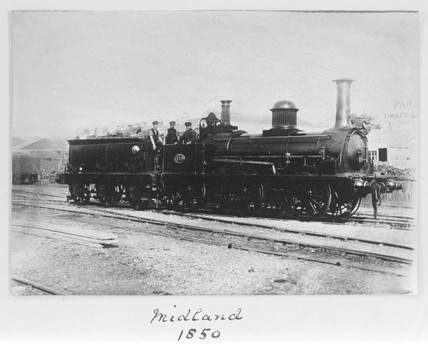 Midland Railway locomotive, 1850.