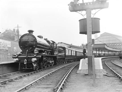 Royal Train at Blackpool Station, 1913.
