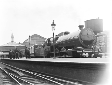 Royal Train at Blackpool station, 1913