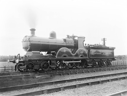 Locomotive at Blackpool station, 1913