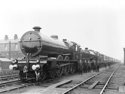 Royal train at Rochdale, 1913.