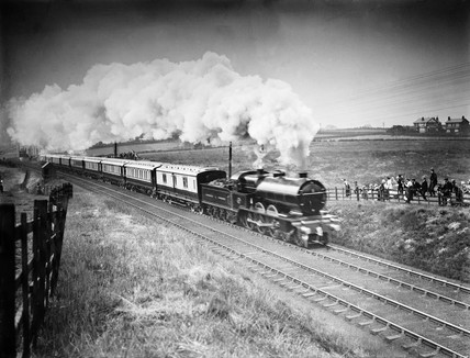 Royal Train at Lostock Junction, 1913.