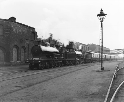 The Royal train at Crewe works, 1913.